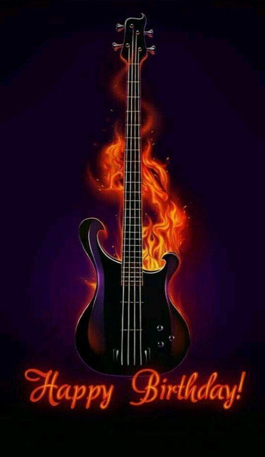 Flaming Guitar Un Poco De Todo Pinterest