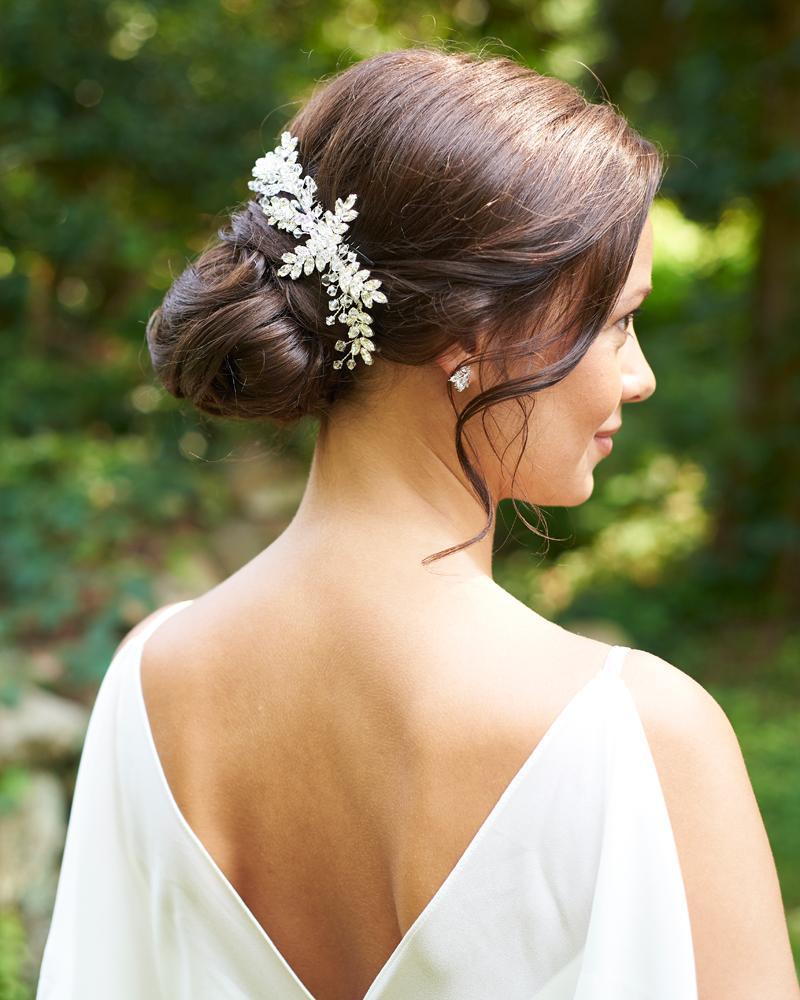 paislee swarovski comb   indian weddings   bridal hair