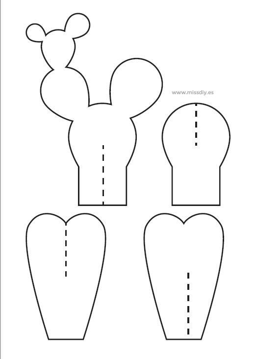 molde para cactus de papel buscar con google baptism pinterest