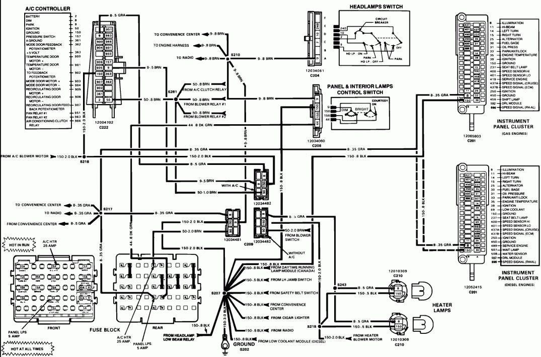 16 1987 gmc truck wiring diagram  1985 chevy truck s10