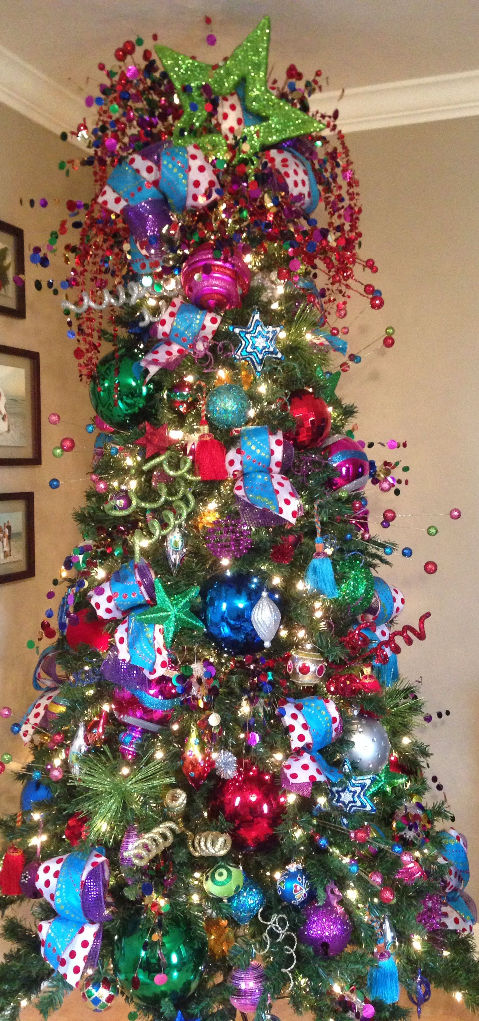 A Pic Of One Of My Christmas Trees Colorful Tree