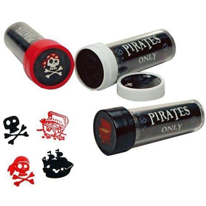 Piraten-Kaleidoskop mit Stempel