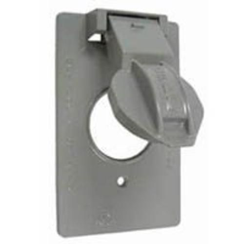 Bell 5155 5 Vertical Device Receptacle Weatherproof Cover 1 Gang Gray Outdoor Box Outdoor Outlet Cover