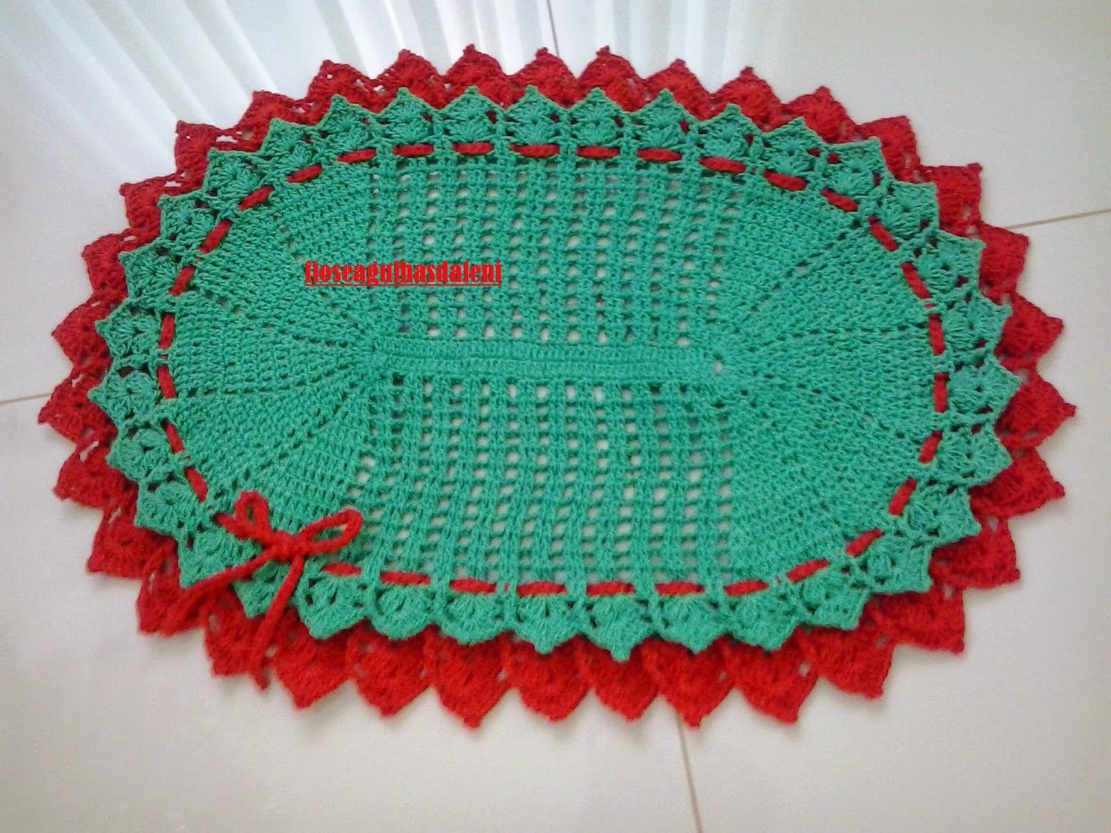 Fios E Agulhas Da Leni Tapete De Croche Para Usar Com A Arvore De