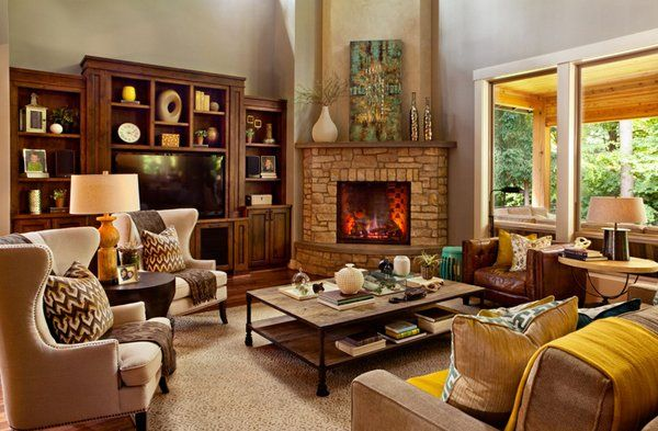 15 Corner Fireplace Ideas For Your Living Room To Improve Home