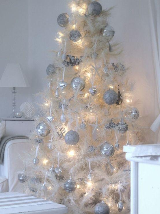Decoration Amazing Elegant Christmas Tree Decorations Entrancing White Vintage Christmas With Images Vintage White Christmas White Christmas Decor White Christmas Trees