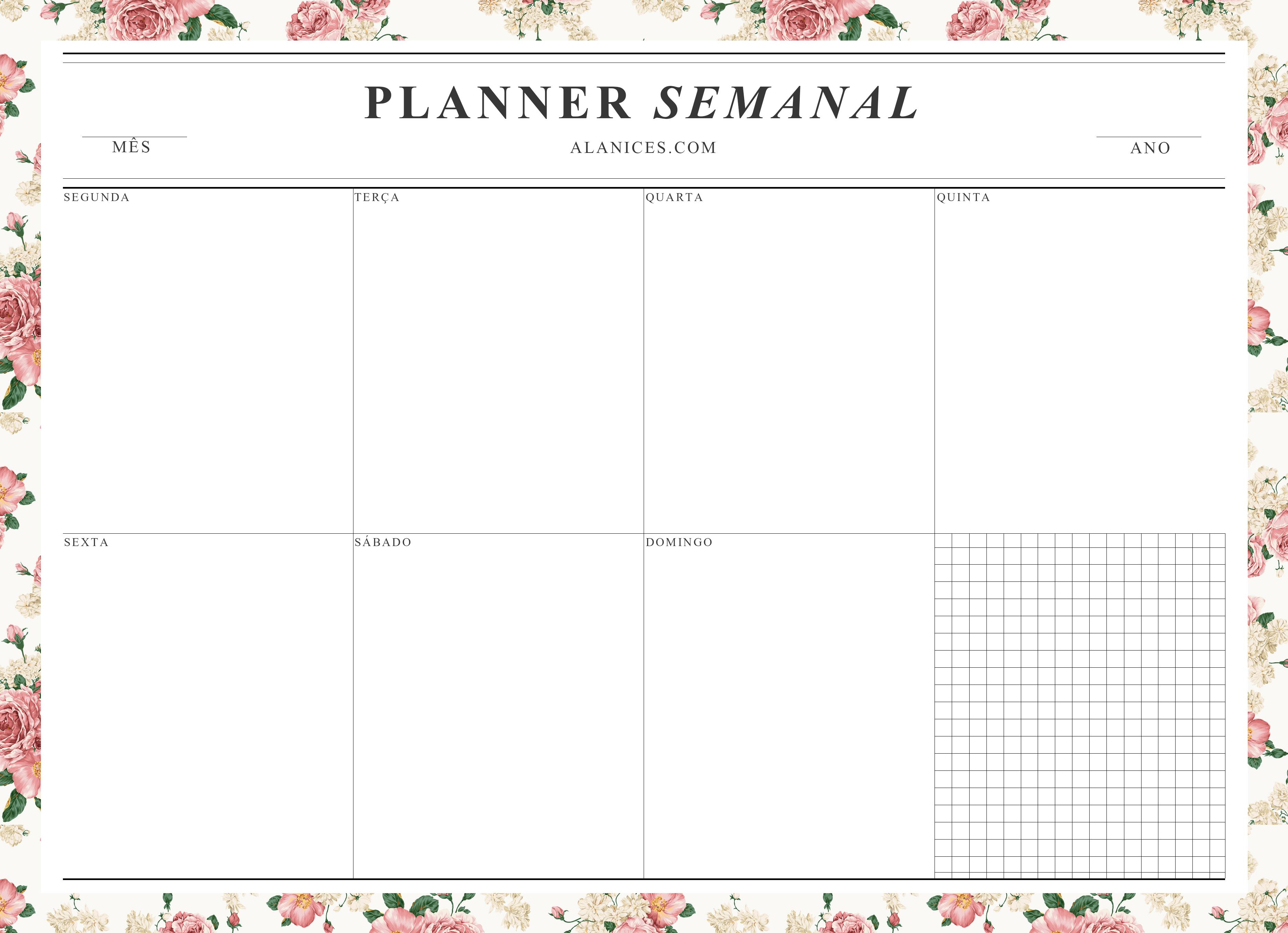Planner semanal pesquisa google planner 2017 pinterest semanal pesquisa google e pesquisa for Planner pinterest