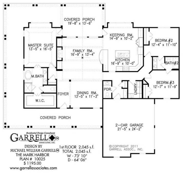 Mark Harbor 10025 Garrell Associates Inc Porch House Plans Coastal House Plans House Plans