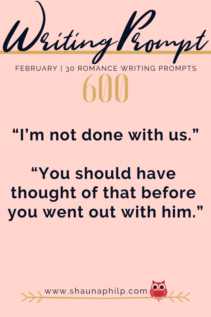 February | 30 Romance Writing Prompts - Shauna Philp | Author