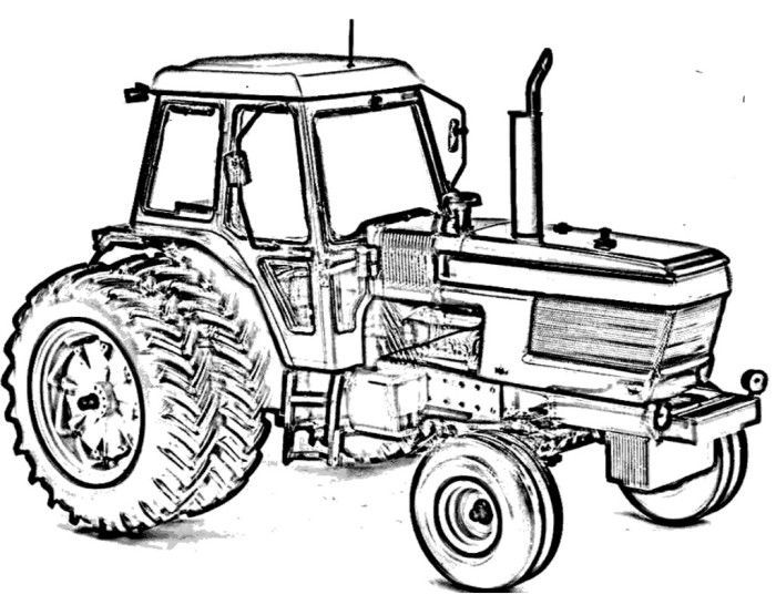 Case Trekker Kleurplaat Tractor Ford Tw15 Coloring Page Construction Color Pages