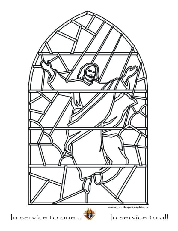 religious stained glass coloring pages - photo#23