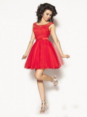 cc1270c1 Czerwona tiulowa sukienka Model:PW-2127 | Moda damska | Sukienka ...