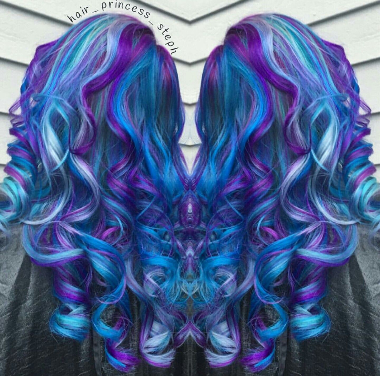 Vibrant Royal Blue And Purple Dyed Hair Mix Hair_princess_steph  Colorful H