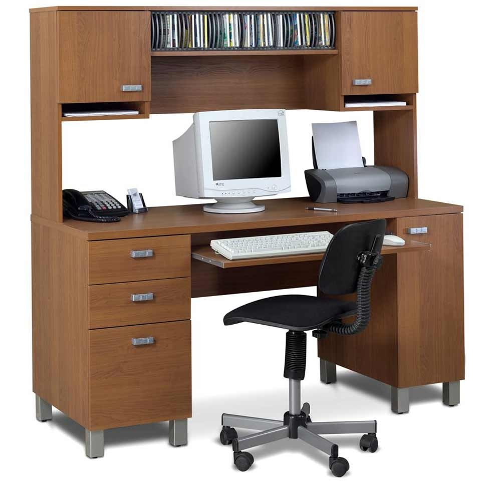 witching home office interior. Witching Wooden Computer Desk With Drawers And Stainless Steel Legs Also Keyboard Storage Black Swifel Chair For Fascinating Home Office Furniture Interior H