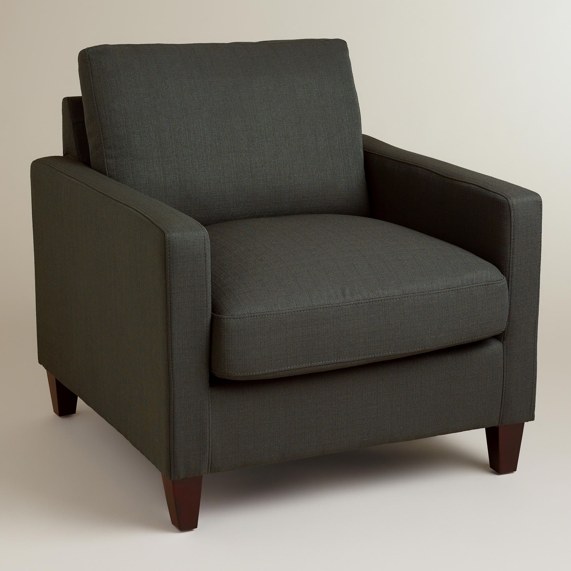 Charcoal Abbott Chair World Market With Images Living Room