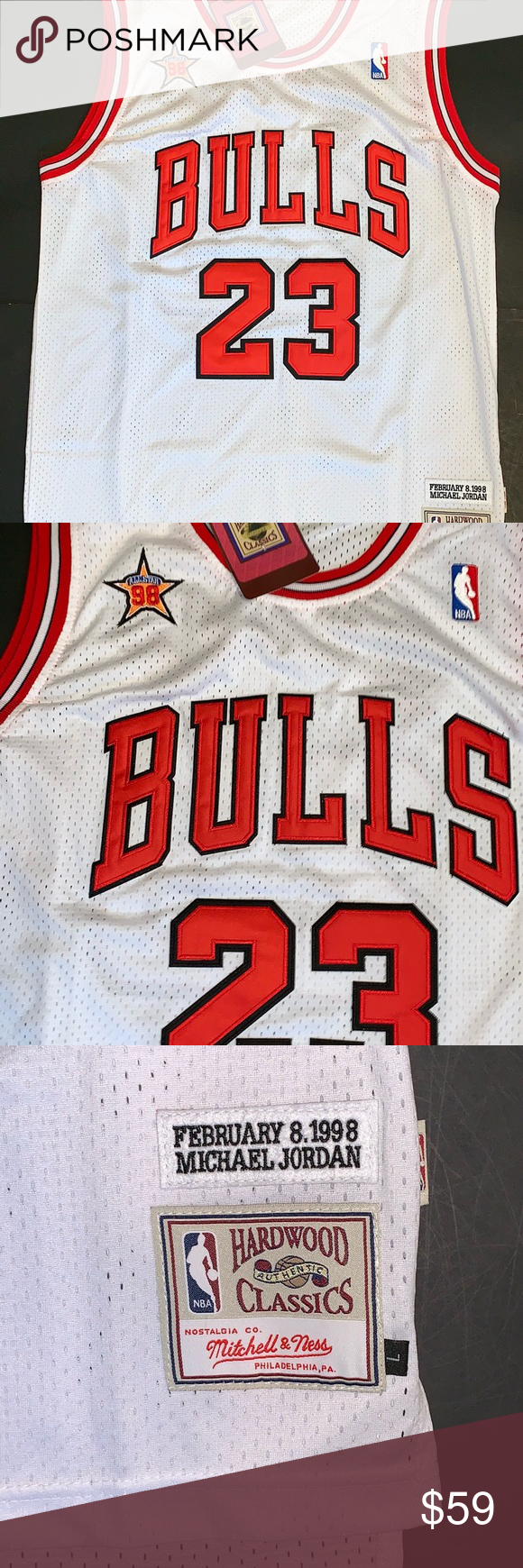 Michael Jordan 1998 NBA All Star Game Jersey  23 Michael Jordan 1998 NBA  All Star Game Jersey  23 Mitchell   Ness Shirts Tank Tops b4675e7e2
