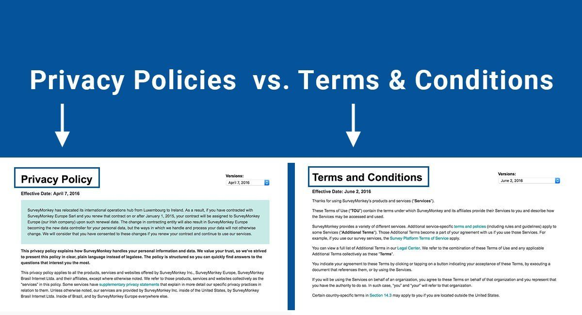 Privacy Policies vs. Terms & Conditions (With images