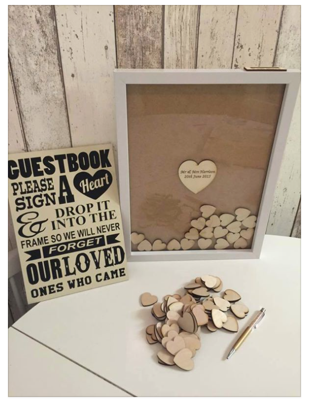 Already married, so can't do this, but a lovely idea for if we ever buy a house, everyone who comes to visit leaves some love :)