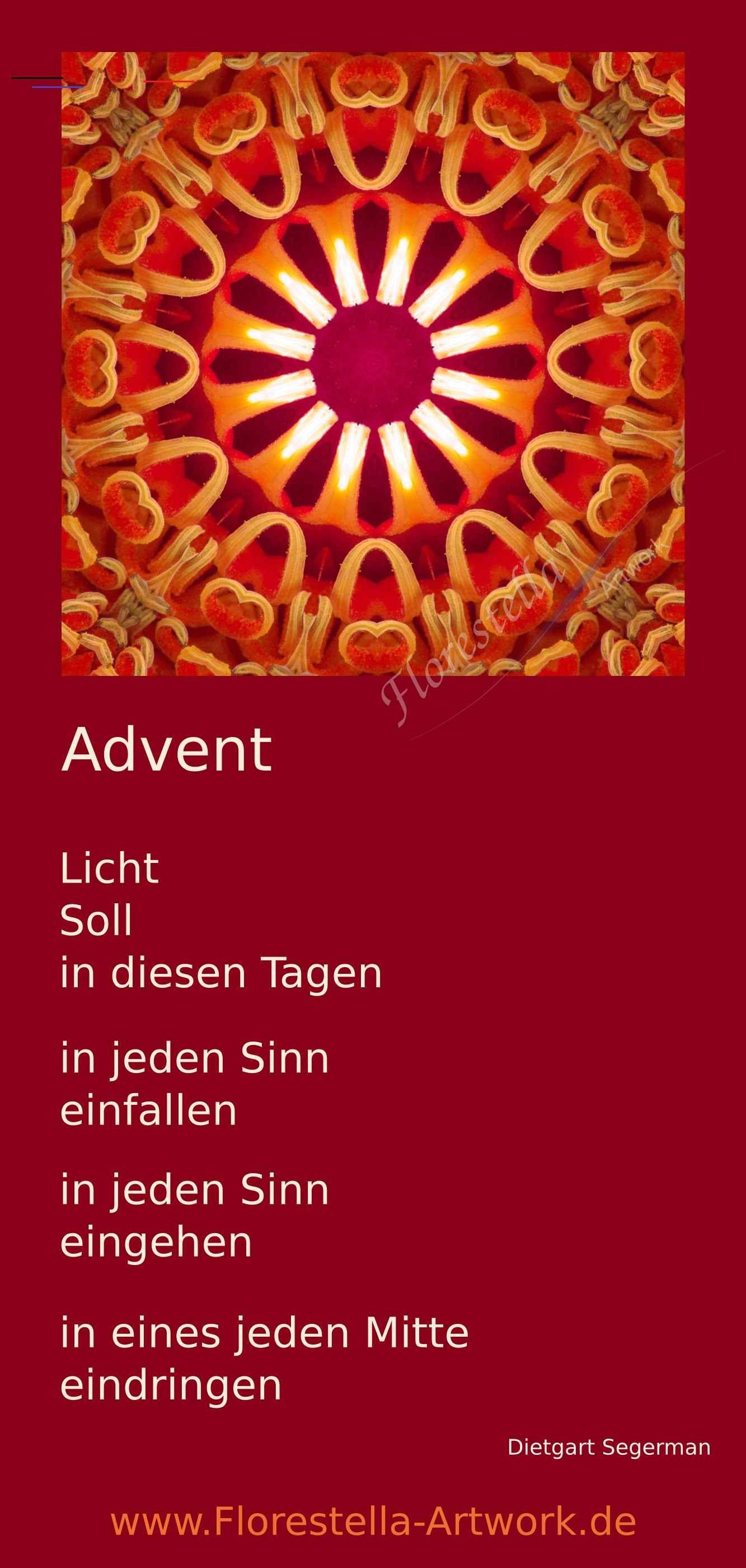 Advent Licht Gedicht ersteradventbilder Der 1