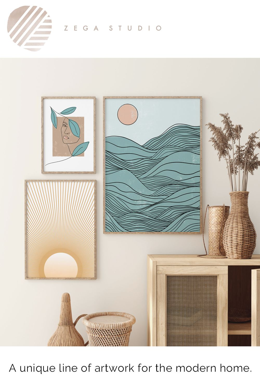 A unique line of artwork for the modern home.