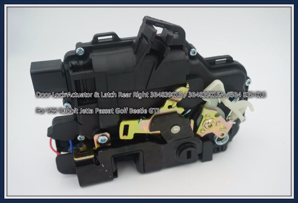 Door Lock Actuator Latch Rear Right 3b4839016 3b4839016a 3b4 839 016 For Vw Rabbit Jetta Passat Golf Beetle Gti Vw Rabbit Door Locks Auto
