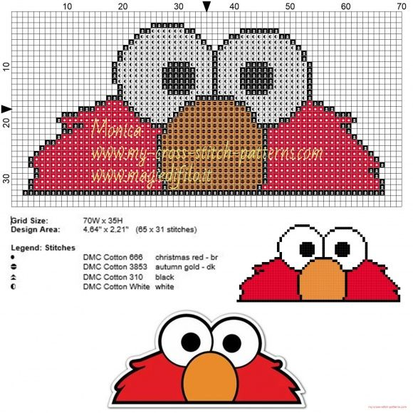 Ojos de Elmo patrón punto de cruz | COSTURA | Pinterest | Punto de ...