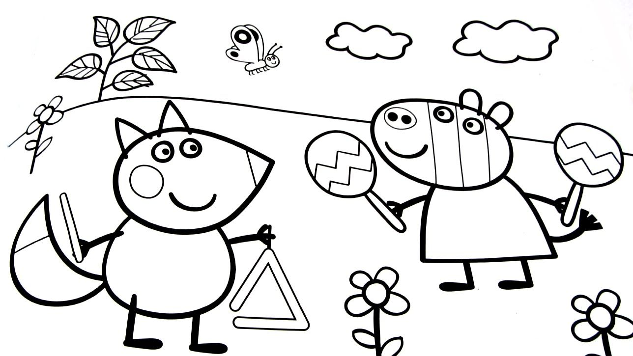 Printable Peppa Pig Coloring Pages Free Coloring Sheets Peppa Pig Coloring Pages Peppa Pig Colouring Coloring Books