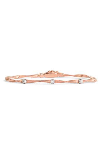 Marco Bicego 'Marrakech' Single Strand Diamond Bracelet, rose gold