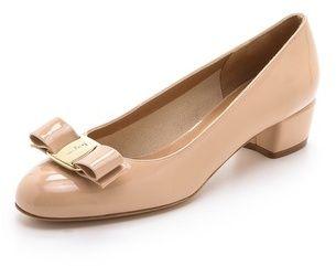 136e1c10e32 Salvatore Ferragamo Vara Low Heel Pumps on shopstyle.com