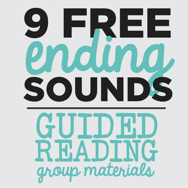 Ending Sounds - 9 Guided Reading Skill Group Materials {Printables ...