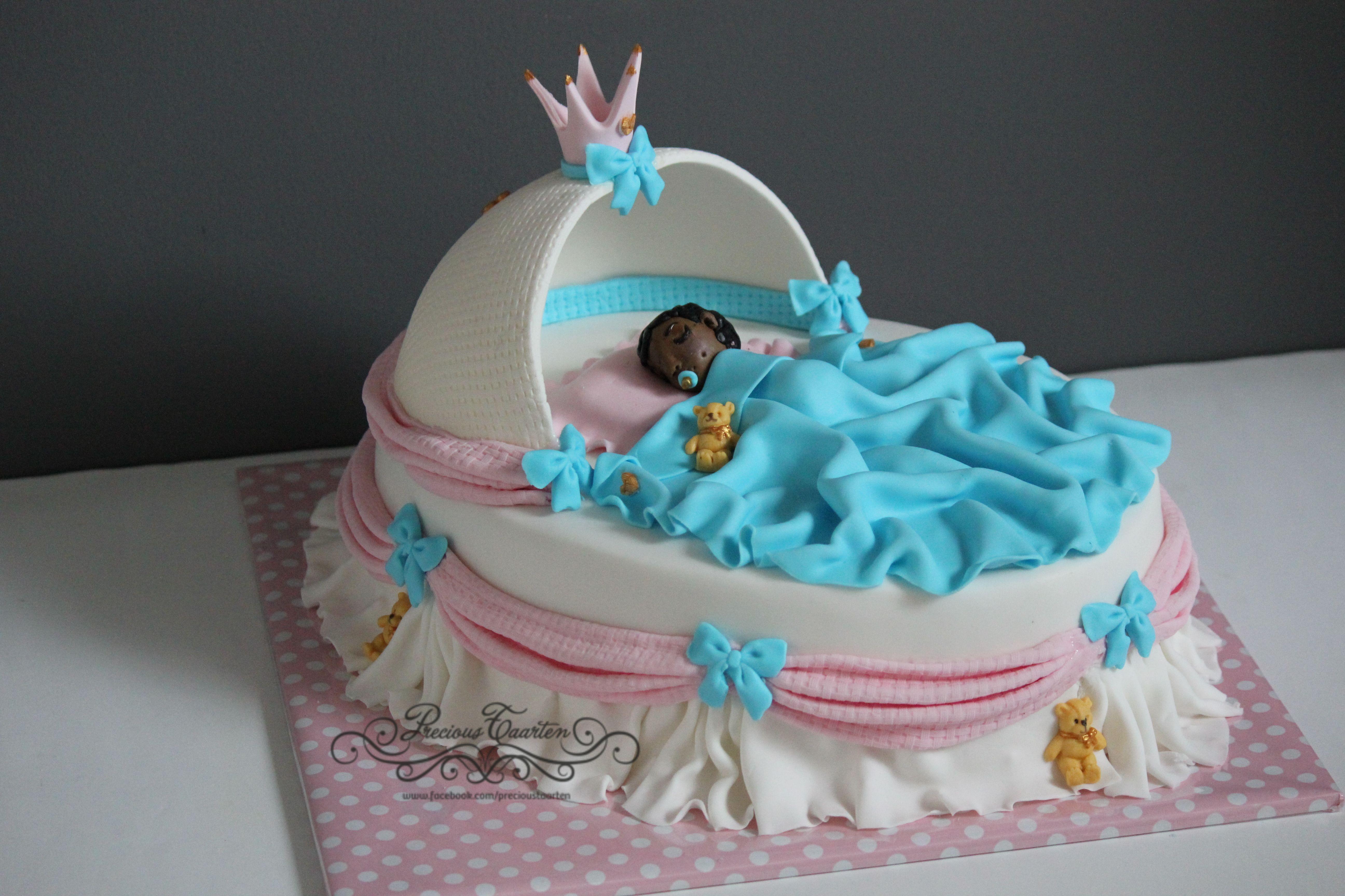Babyshower cake boy or girl www.facebook.com/precioustaarten