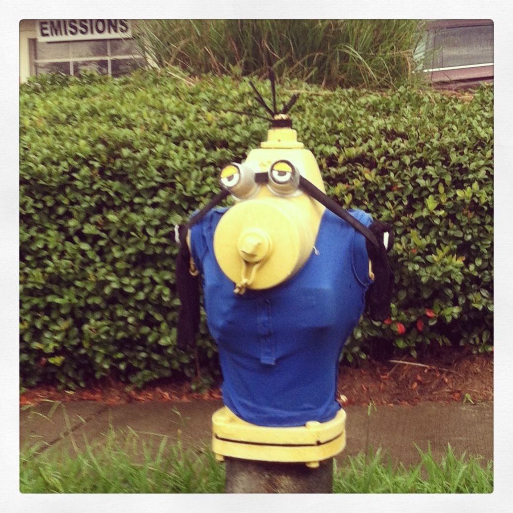 Fire hydrant minion dunwoody ga firefighting - Minion pompier ...