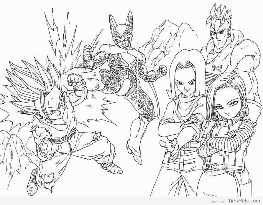 http://timykids.com/dragon-ball-z-coloring-book.html | Colorings ...
