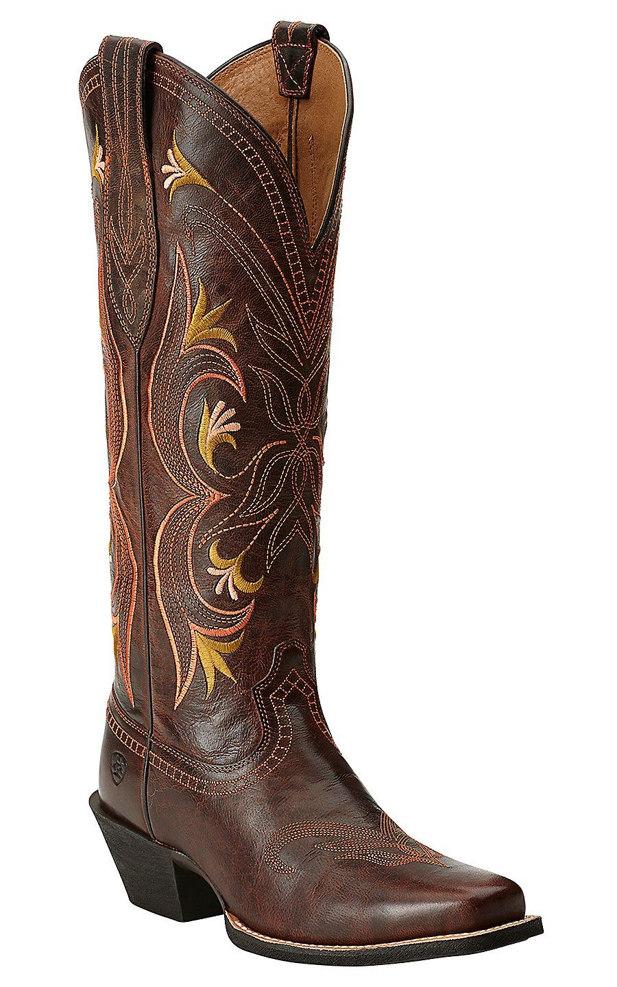 Ariat lantana womens sassy brown embroidered tall punchy