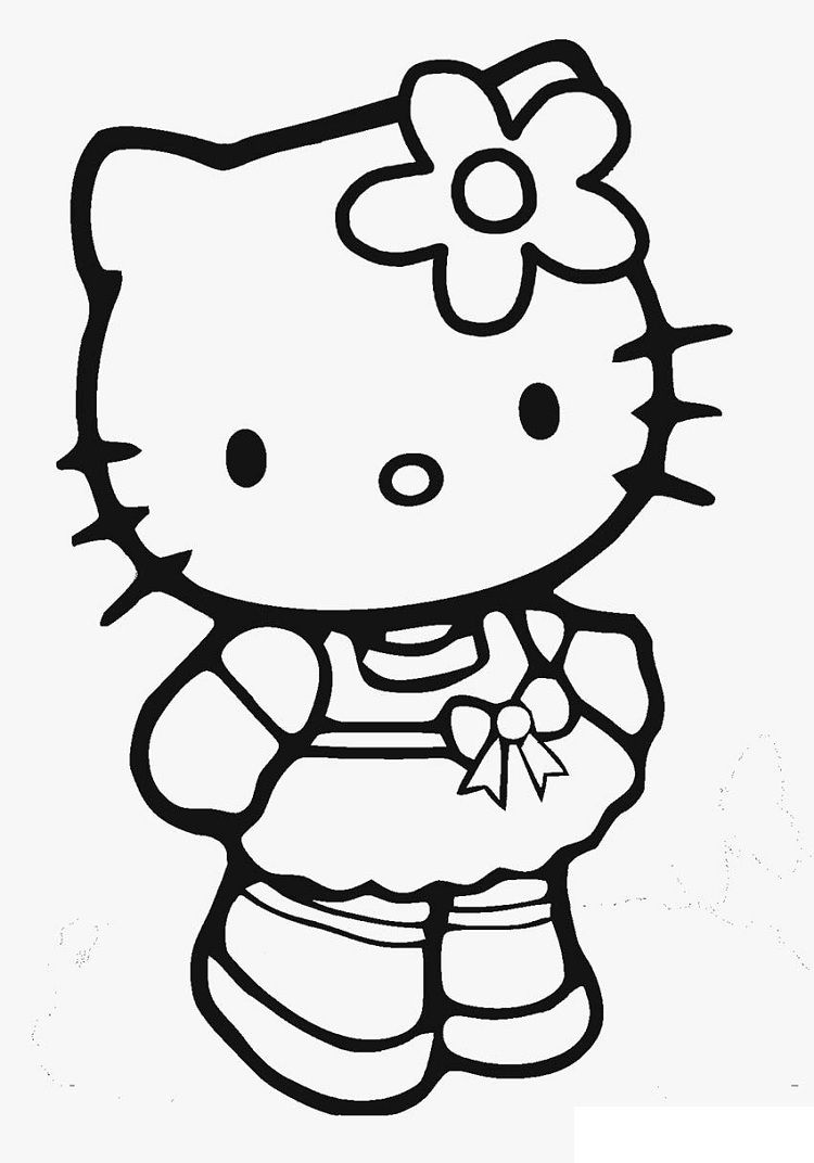Hello Kitty Hello Coloring Pages Hello Kitty Drawing Hello Kitty Colouring Pages Kitty Drawing