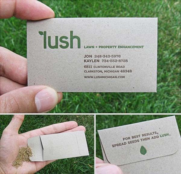 A landscaping business card thats an investment in their own