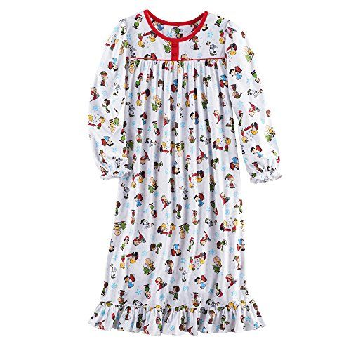 Peanuts Toddler Girls Christmas Holiday Granny Gown Nightgown Pajamas