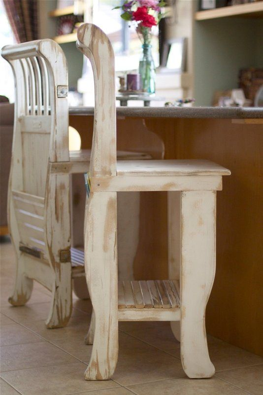 custom made shabby chic crib stools wood projects. Black Bedroom Furniture Sets. Home Design Ideas