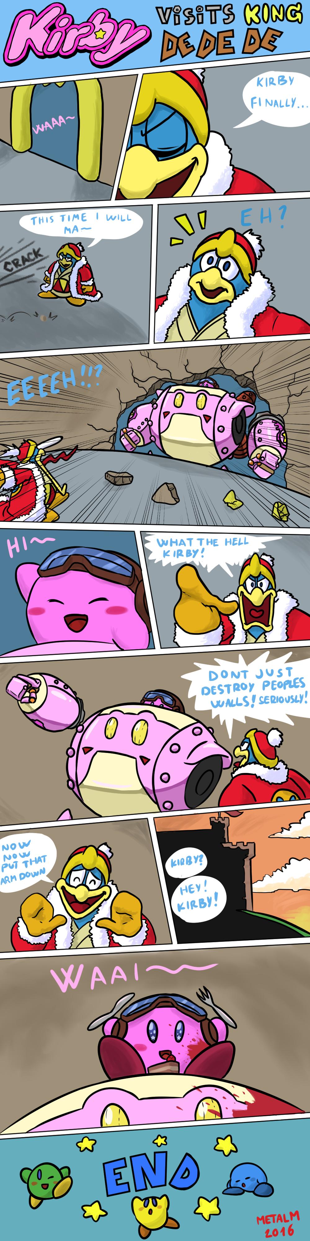 Kirby visits King Dedede by Metal-M on DeviantArt