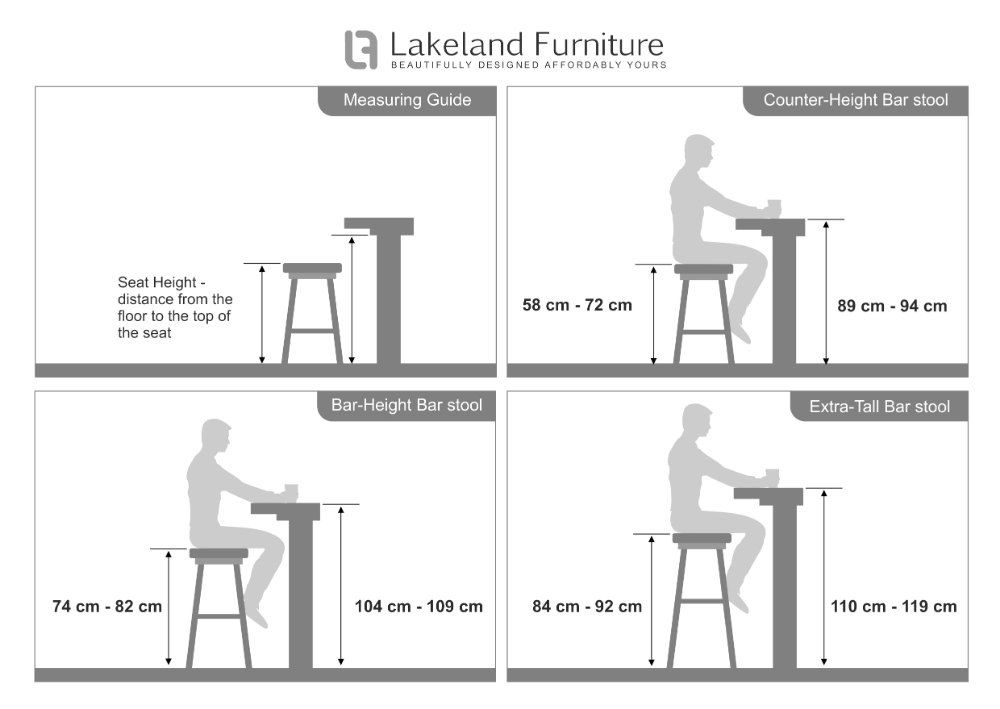 Bar Stool Size Guide What Height And Width Should It Be Bar Stools Stool Height Bar Dimensions