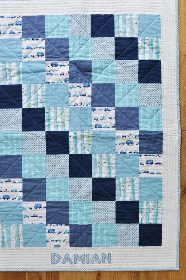 This baby quilt is the perfect gift for a newborn  Project