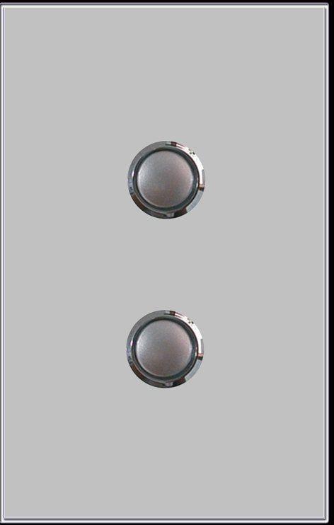 Australia Standard Gentle Push Led Light Switch Tempered Glass