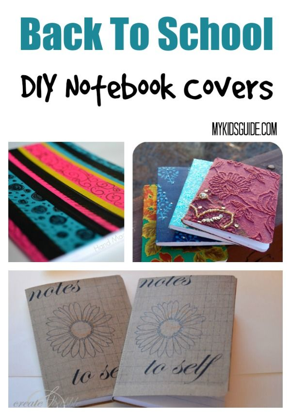 Cute School Book Cover Ideas ~ Back to school craft diy notebook covers