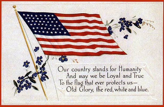 Yahoo Login Flag Patriotic Postcard
