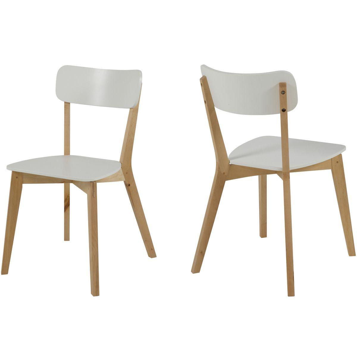 Chaises Moderne Laquee Blanc Luza Lot De 2 Chaise Moderne Chaise Et Table Salle A Manger