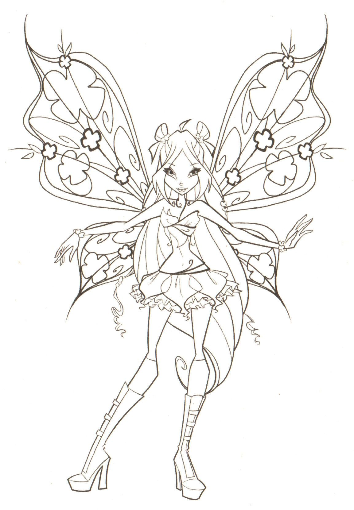 Fairies To Print And Color Club Coloring Winx « Online Coloring