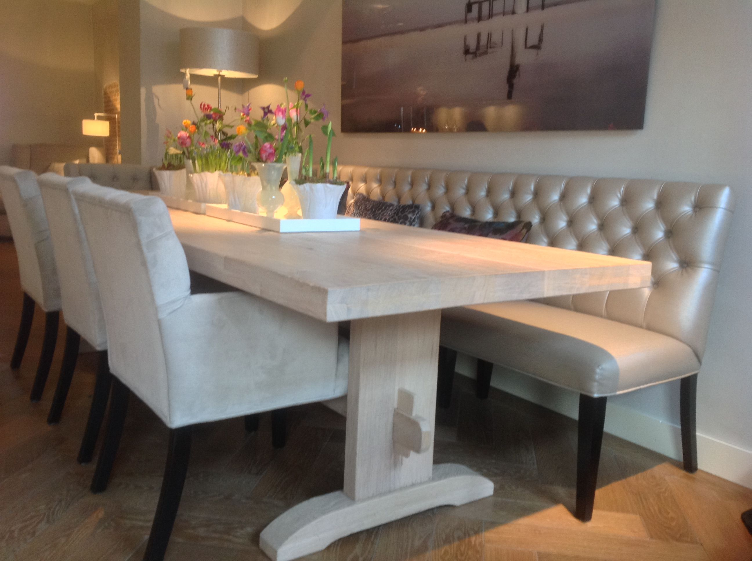 Tafel # Dining Bank # Dining chair # Interiors DMF # via # De ...
