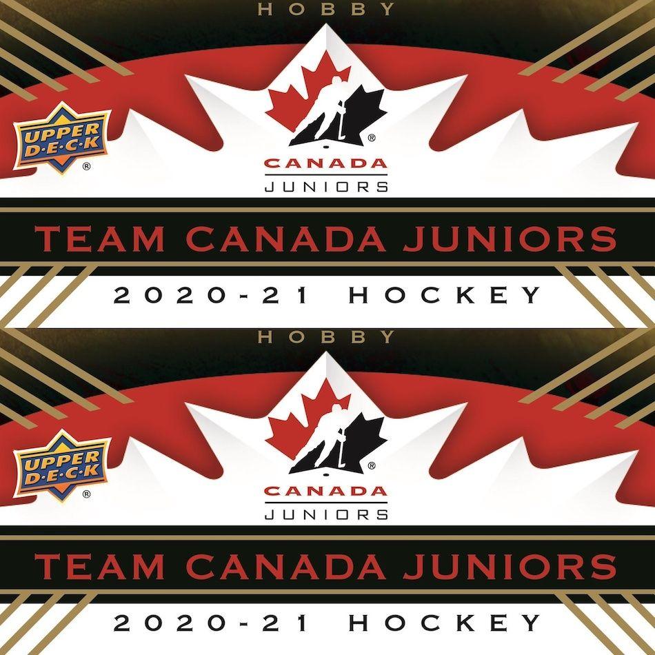 2020 21 Upper Deck Team Canada Juniors Checklist Set Info Box Odds In 2020 Team Canada Hockey Cards Upper Deck