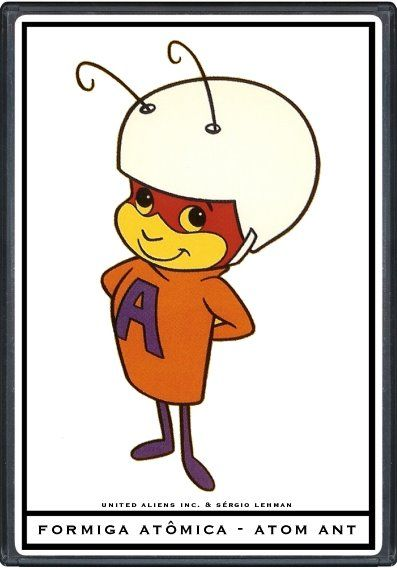 Hanna Barbera World Eng Atom Ant Desenhos Animados Vintage