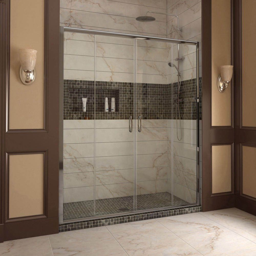 DreamLine Visions 56 to 60 in. Frameless Sliding Shower Door ...